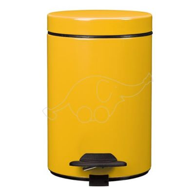 Dust bin with pedal 3L Rossignol, yellow