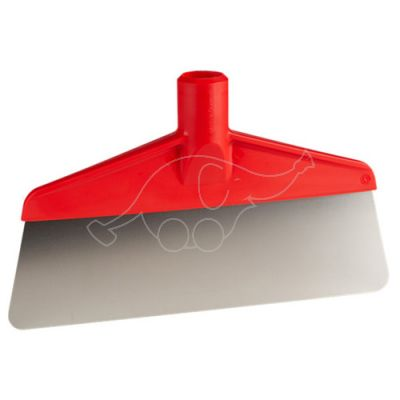 Skrāpis, elastīgs, metāla,255mm sarkans