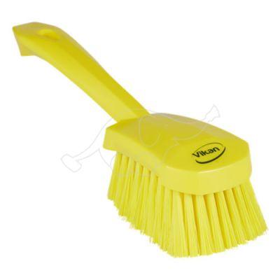 Vikan Washing Brush with short handle, 270 mm, Soft, Yellow
