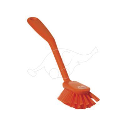 VIKAN trauku birste 255mm ar skrāpi, mīksta, oranža